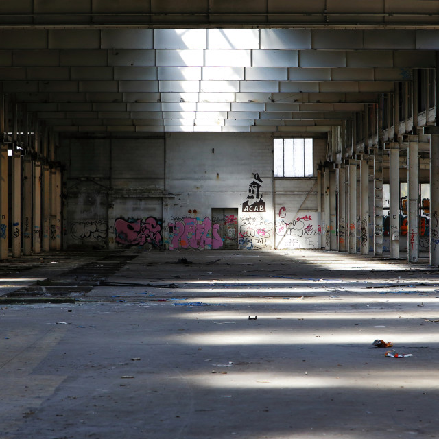 """abandoned factory 8"" stock image"
