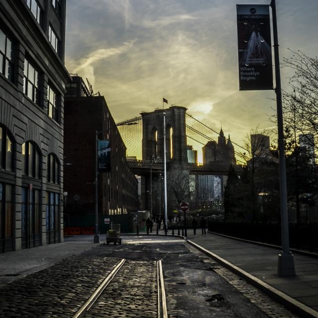 """Brooklyn Tracks"" stock image"