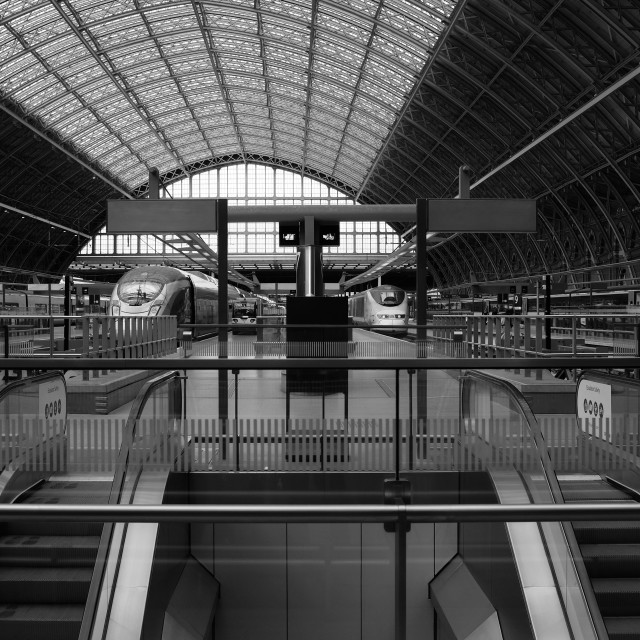 """St Pancras Station"" stock image"