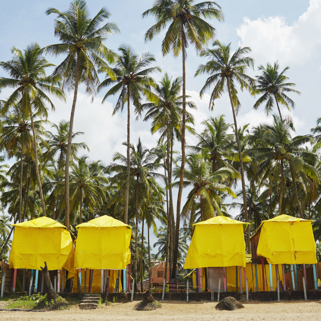 """Yellow Shelters"" stock image"