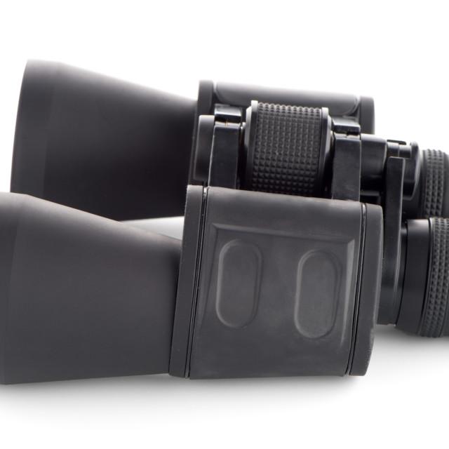 """""""Black binoculars isolated"""" stock image"""