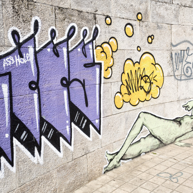 """Street Art and Graffiti"" stock image"