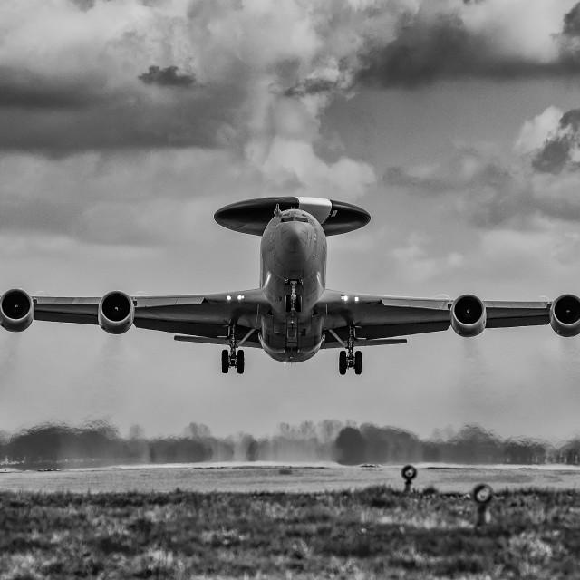 """""""E-3 Departure"""" stock image"""