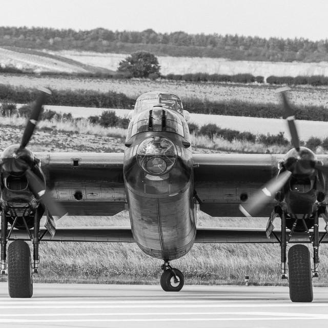 """""""Lancaster Bomber"""" stock image"""