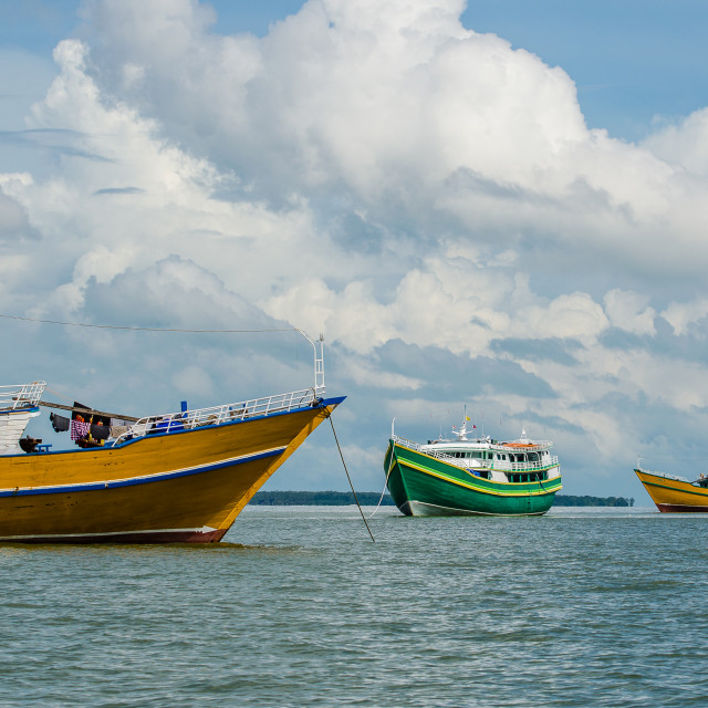"""Sandakan House Boats"" stock image"