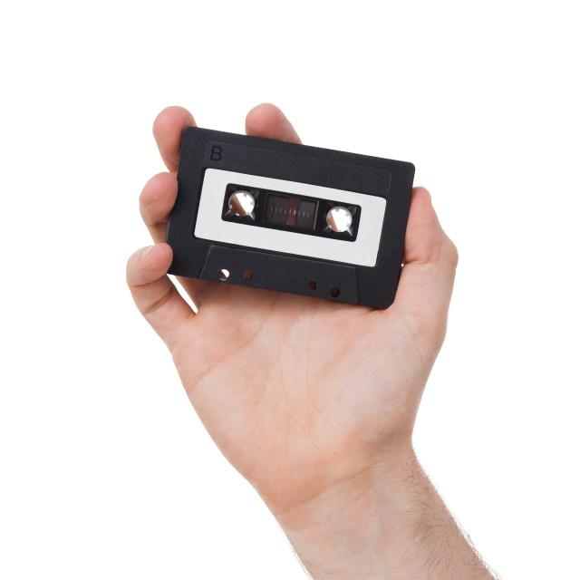"""Vintage audio cassette tape"" stock image"