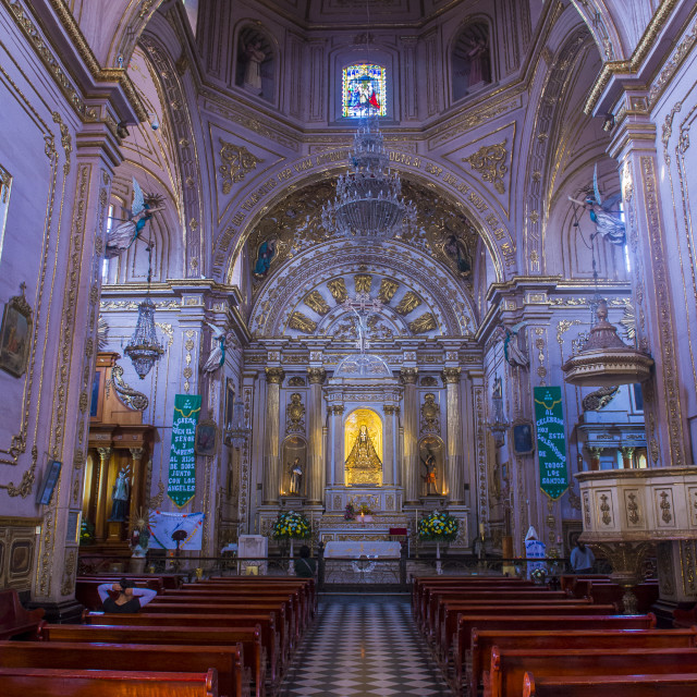 """""""The Basilica of Our Lady of Solitude in Oaxaca Mexico"""" stock image"""