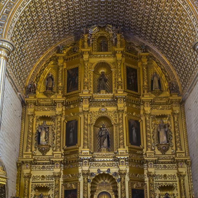 """The church of Santo Domingo de Guzman in Oaxaca Mexico"" stock image"