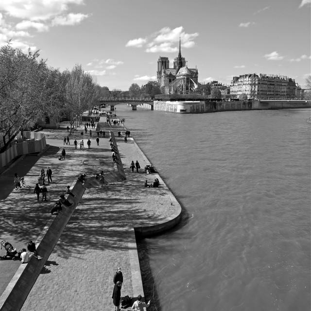 """""""Pont de la Tournelle"""" stock image"""