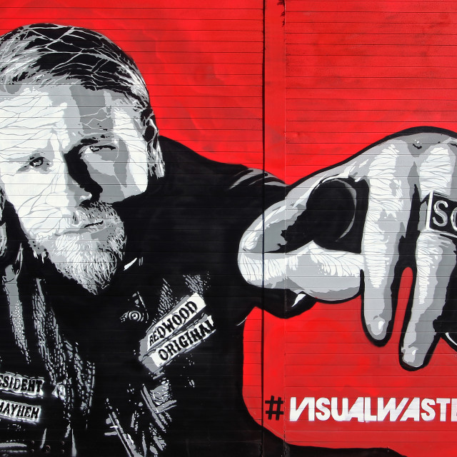 """""""Sons of Anarchy Street Art"""" stock image"""