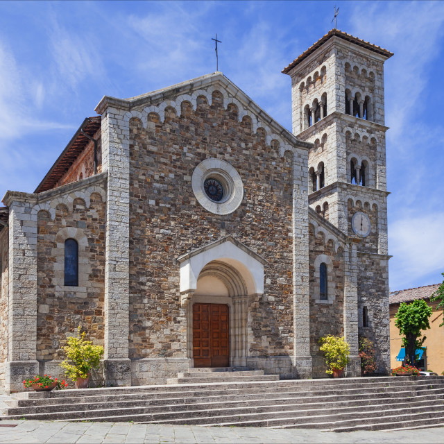 """Church at Castellina in Chianti"" stock image"
