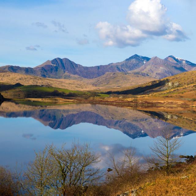 """""""Snowdon Panorama"""" stock image"""