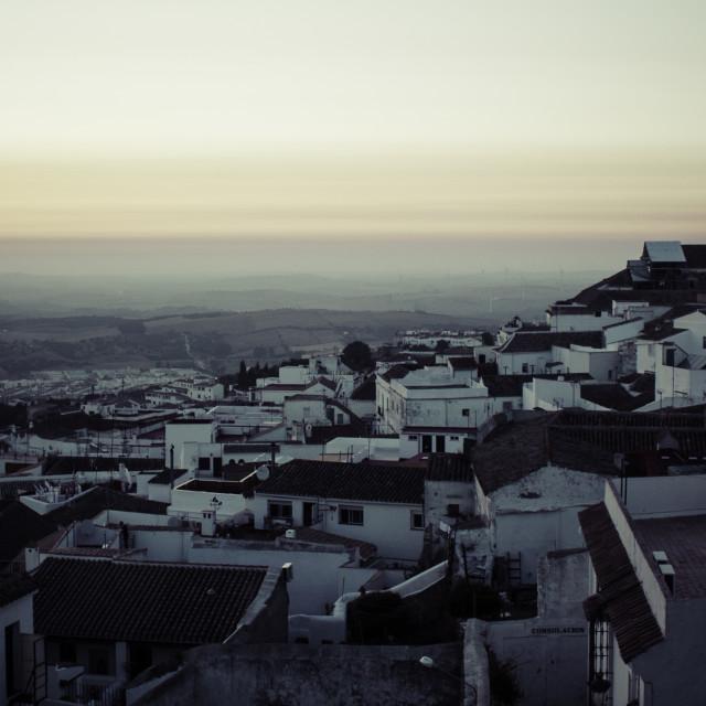 """Sunset in Medina Sidonia"" stock image"