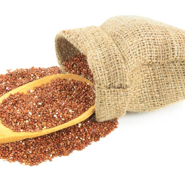 """Red organic Quinoa."" stock image"