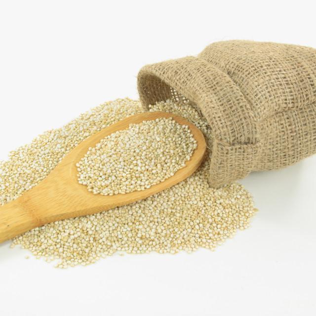 """""""Organic Quinoa."""" stock image"""