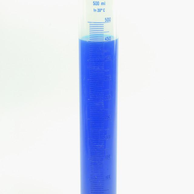 """Lab Plastic measuring cylinder."" stock image"