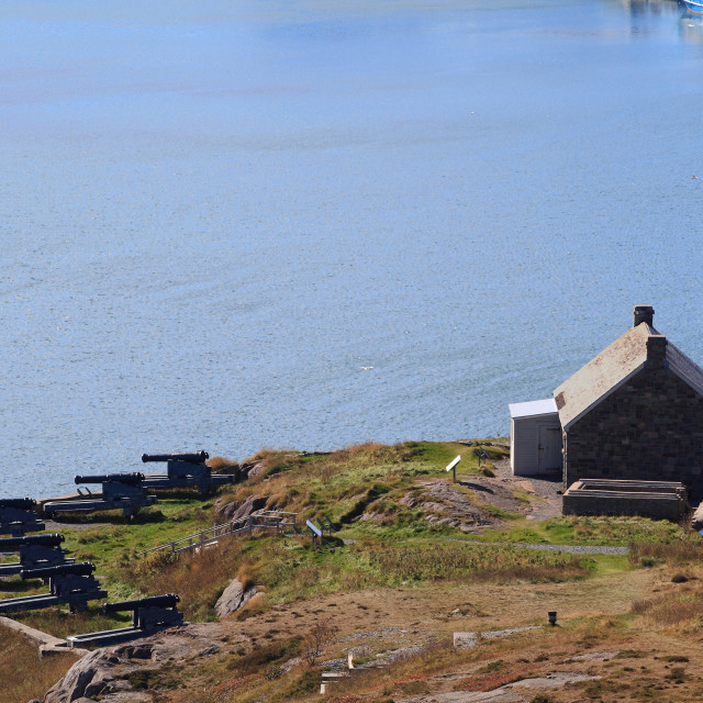 """Queen's Artillery Battery St. John?s Newfoundland close view"" stock image"