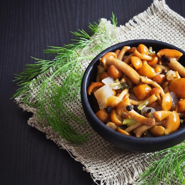 """delicious marinated mushrooms"" stock image"