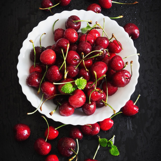 """ripe sweet cherries"" stock image"
