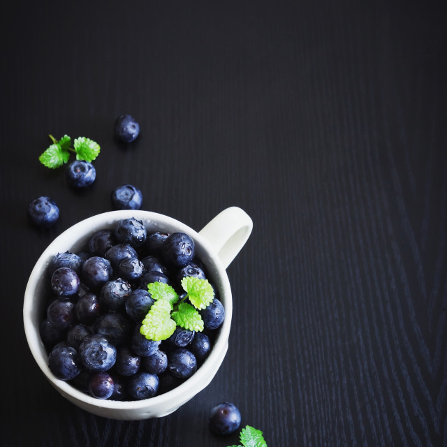 """ripe blueberries"" stock image"