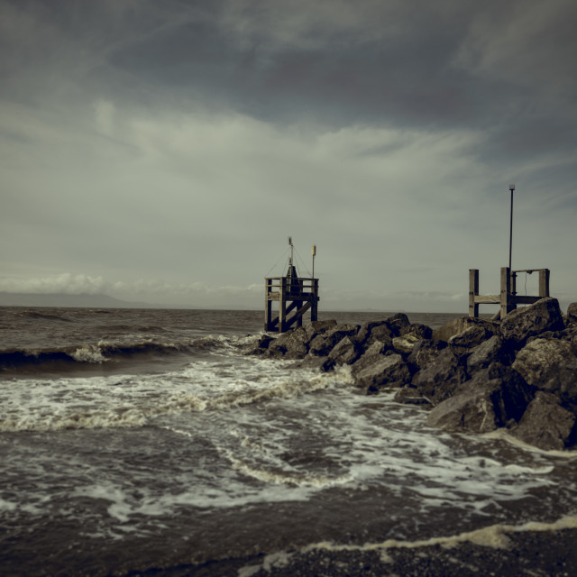 """Moody sea and sky"" stock image"