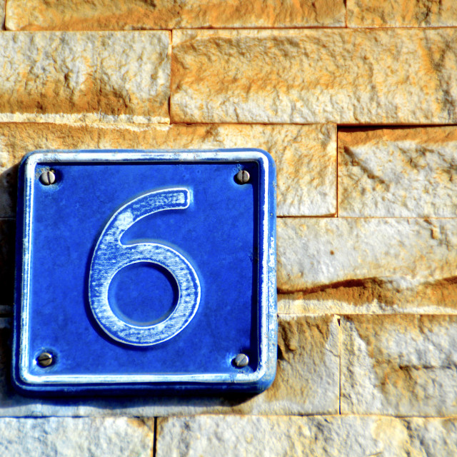 """The Number 6"" stock image"