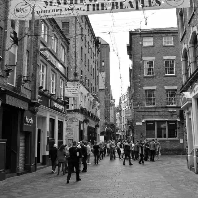 """Mathew Street, Liverpool"" stock image"