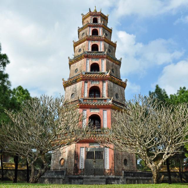 """Thiên Mụ Pagoda"" stock image"