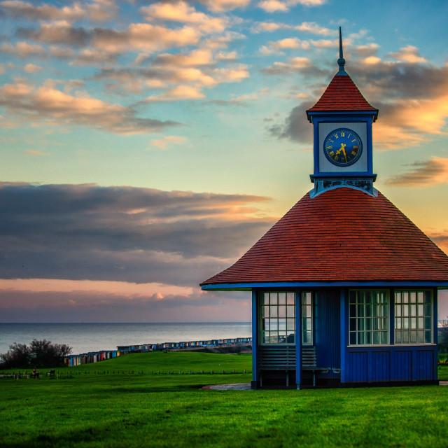 """""""Frinton On Sea Sunset"""" stock image"""