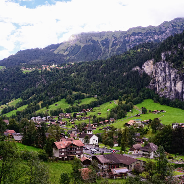 """Lauterbrunnen Valley (Switzerland, Jungfrau Region)"" stock image"