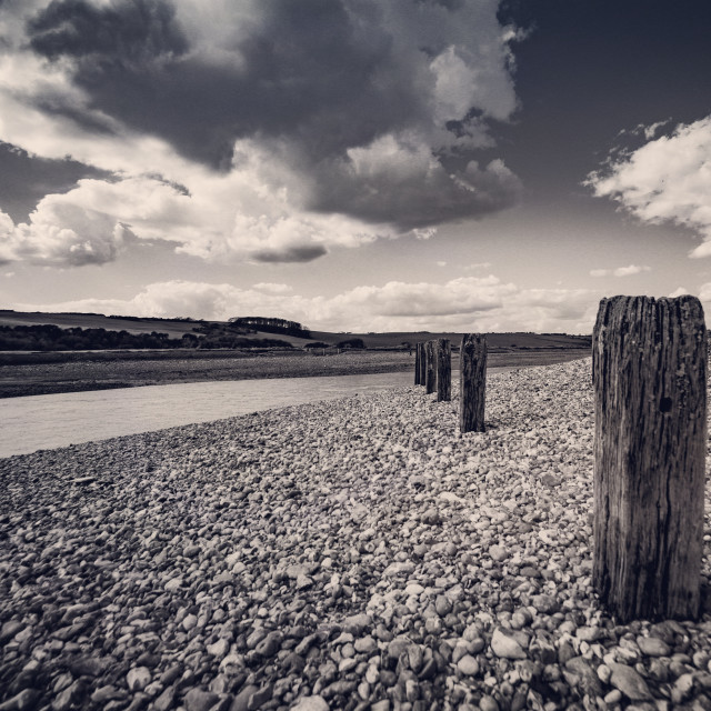 """Cuckmere river"" stock image"