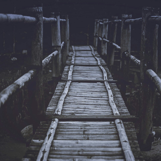 """Bamboo bridge"" stock image"