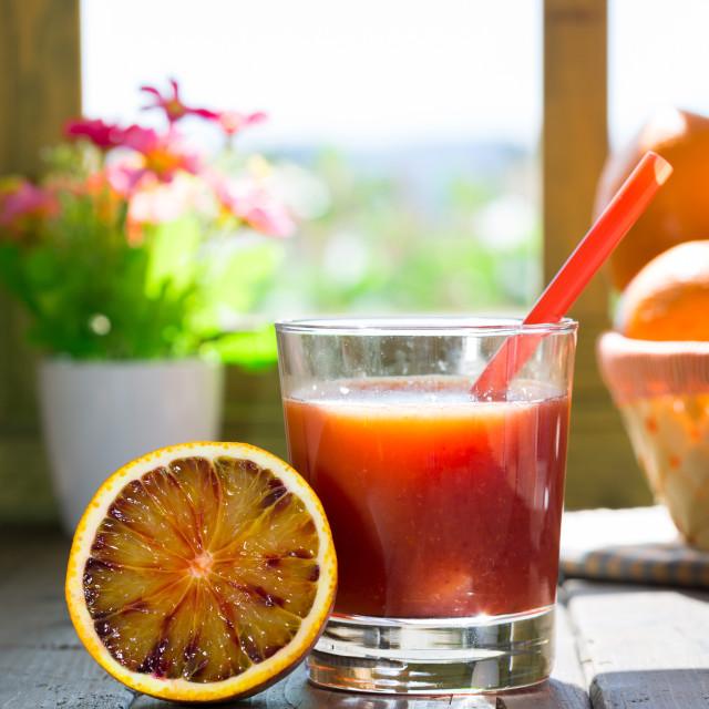 """Blood orange juice"" stock image"