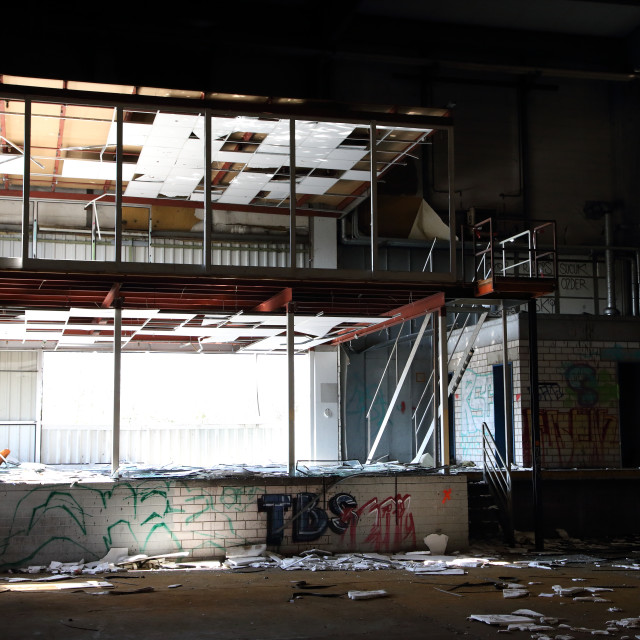 """abandoned factory 9"" stock image"