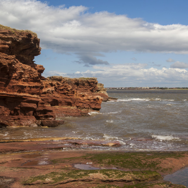 """Hilbre Island High Tide"" stock image"