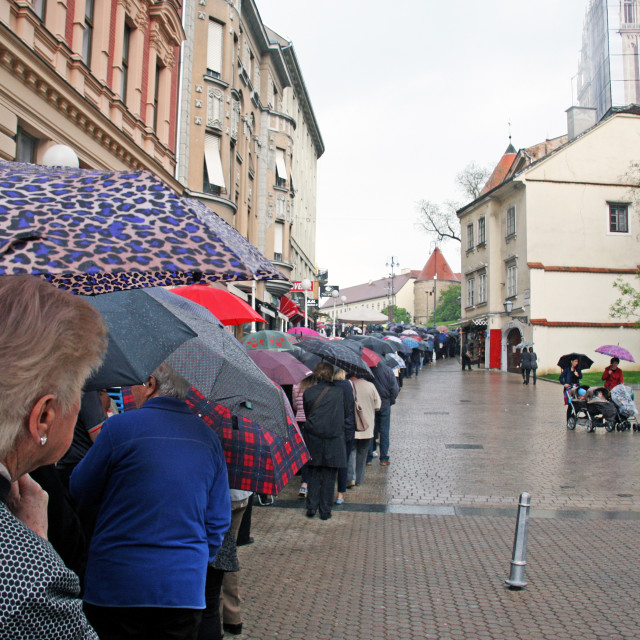 """Welcome of St.Leopold Mandic's body in Zagreb,11,2016."" stock image"
