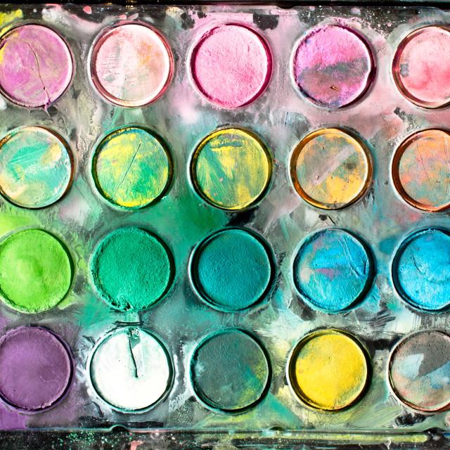 """Paint tray"" stock image"
