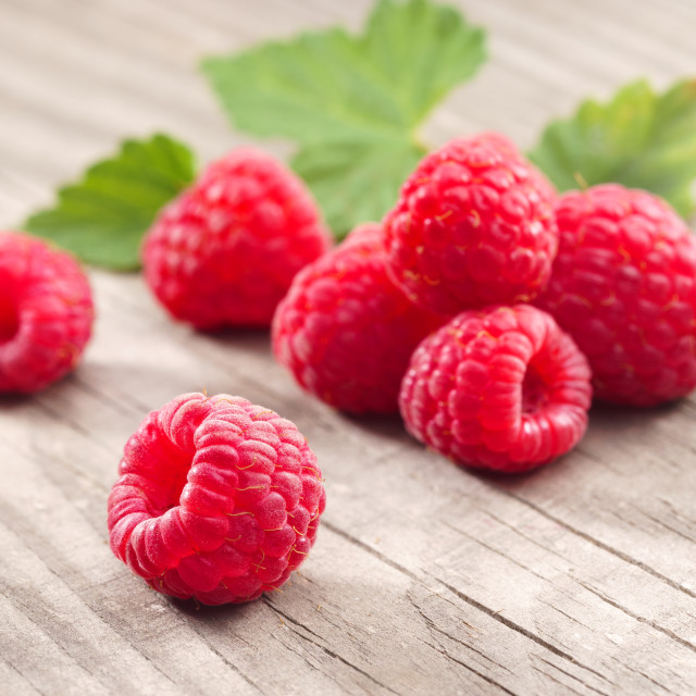 """Healthy Raspberries."" stock image"
