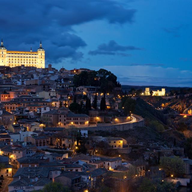 """Toledo at night"" stock image"