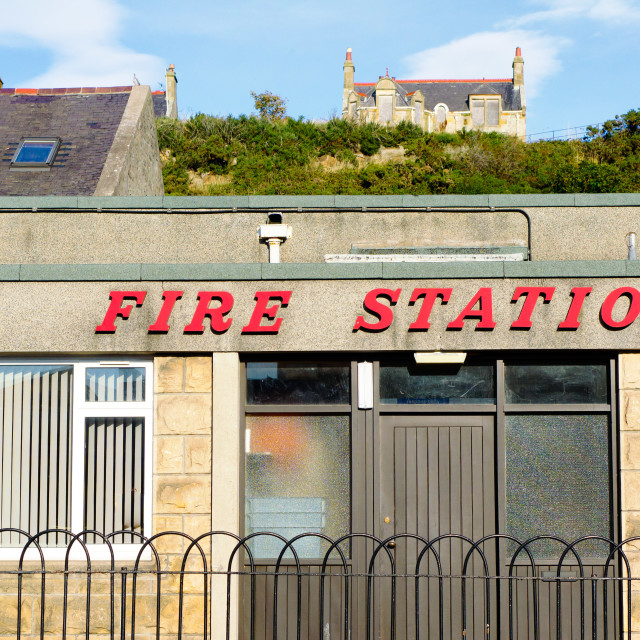 """""""Fire station"""" stock image"""