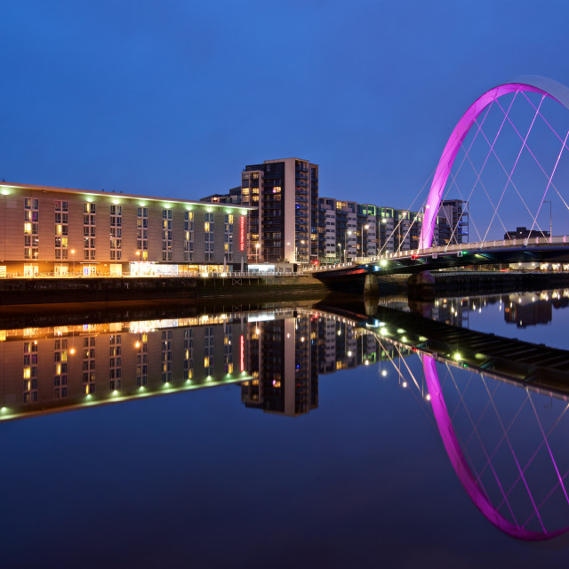 """The Clyde Arc Glasgow"" stock image"