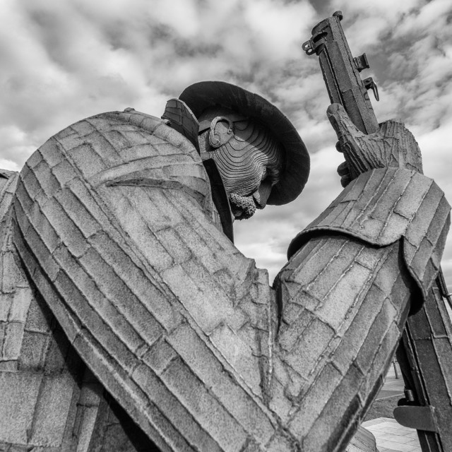 """""""Tommy at Seaham"""" stock image"""