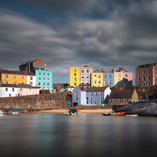"""Tenby harbour Pembrokeshire"" stock image"
