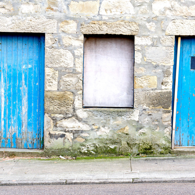 """Blue doors"" stock image"