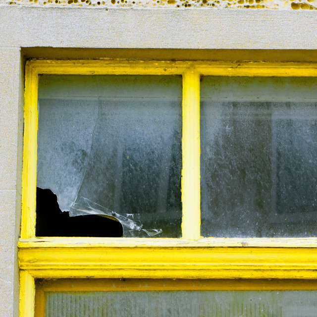 """Broken window"" stock image"