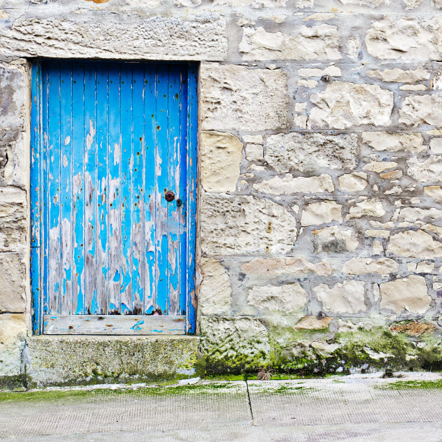 """Blue door"" stock image"