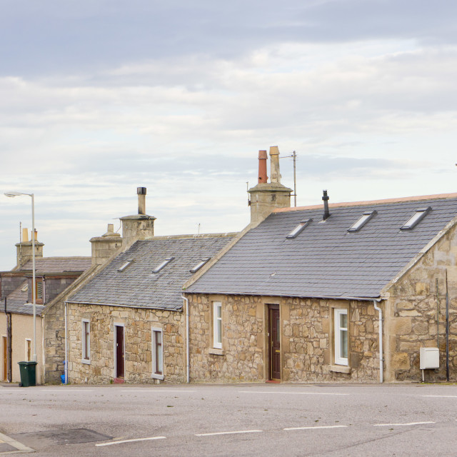 """Scottish bungalows"" stock image"