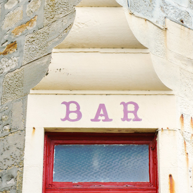 """Bar sign"" stock image"