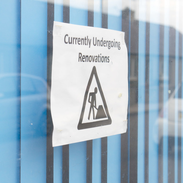 """Renovation notice"" stock image"