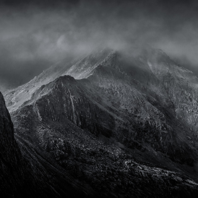 """Crib Goch Ridge"" stock image"